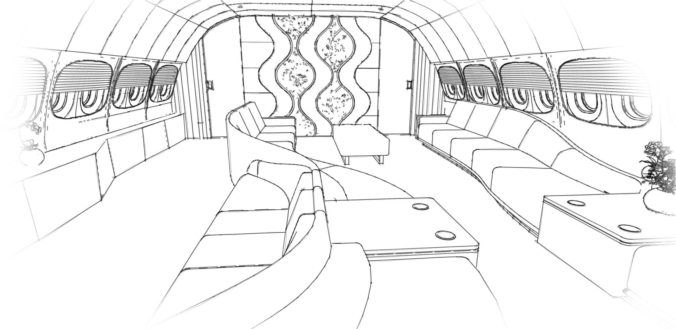 Private Jet Interior Design Development