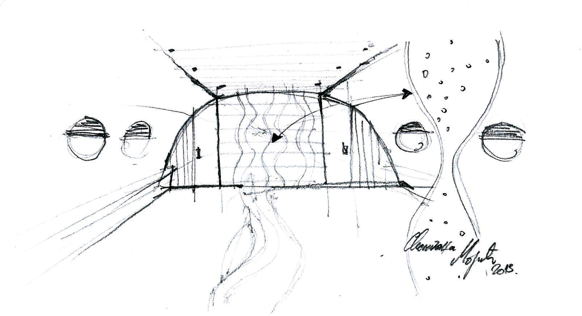 Private Jet Interior Design Sketch